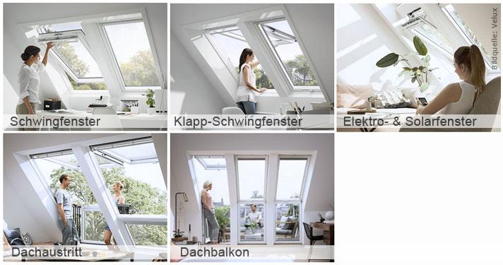 Dachfensterarten